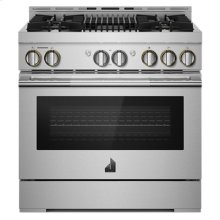 """36"""" RISE Gas Professional-Style Range with Infrared Grill"""