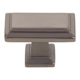 Sutton Place Rectangle Knob 1 7/16 Inch - Slate