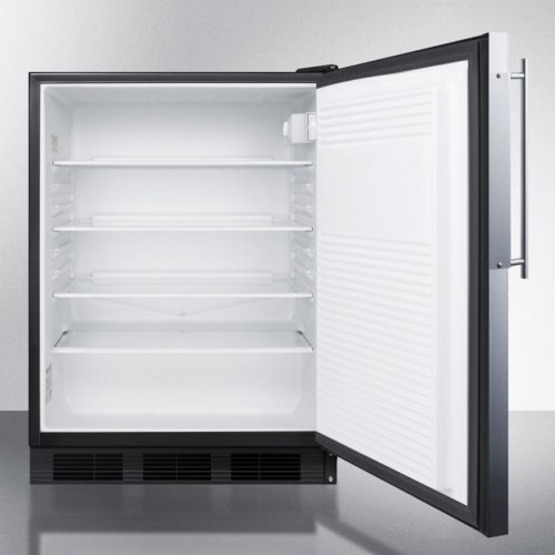 ADA Compliant Built-in Undercounter All-refrigerator for General Purpose Use, Auto Defrost W/ss Door Frame for Panel Inserts and Black Cabinet