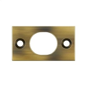"Strike Plate For 6"" Flush Bolt - Antique Brass"