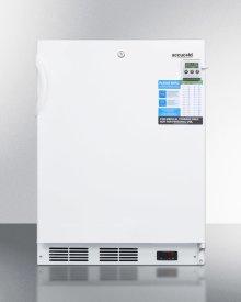ADA Compliant Built-in Undercounter Refrigerator With Digital Thermostat, Temperature Alarm, Hospital Grade Cord, Internal Fan, and Lock