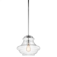Everly Collection Everly 1 Light Pendant (42044CH) 1 Light Pendant