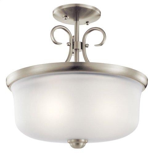 Bixler Collection Bixler 2 light Pendant/Semi Flush NI