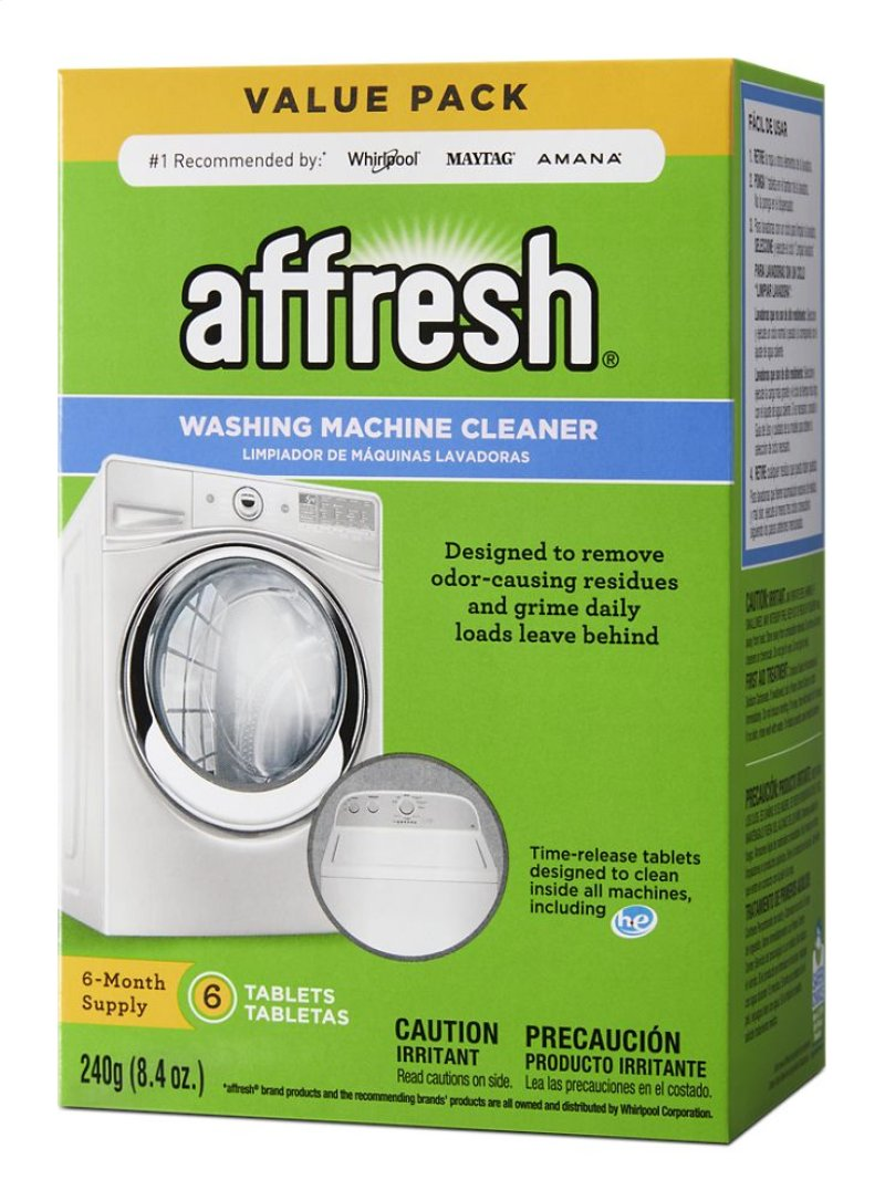 W10501250 in by Whirlpool in Sunray, TX - Affresh® 6 Count Washer ...