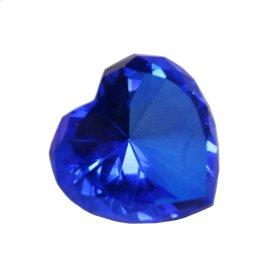 Blue Glass Heart Diamond
