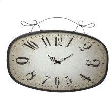 Large Distressed Black Scroll Wall Clock.