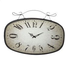 Large Distressed Black Scroll Wall Clock.