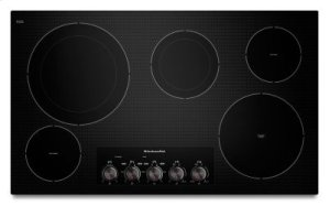 "36"" Electric Cooktop with 5 Radiant Elements - Black"