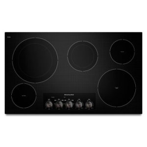 "KITCHENAID36"" Electric Cooktop with 5 Radiant Elements - Black"