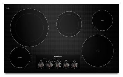 "36"" Electric Cooktop with 5 Radiant Elements - Black Product Image"