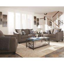 Salizar Transitional Grey Three-piece Living Room Set
