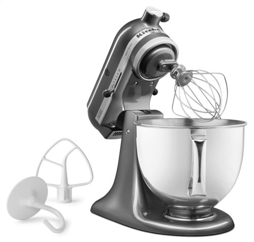 Artisan® Series 5 Quart Tilt-Head Stand Mixer - Silver Metallic