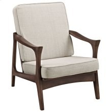 Paddle Upholstered Fabric Lounge Chair in Brown