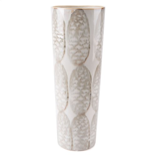 Feather Tall Vase Ivory & Sage Green