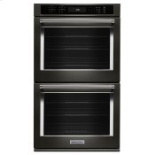 """27"""" Double Wall Oven with Even-Heat™ True Convection - Black Stainless Steel with PrintShield™ Finish"""