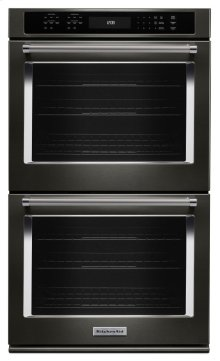 """27"""" Double Wall Oven with Even-Heat True Convection - Black Stainless"""