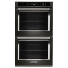 """27"""" Double Wall Oven with Even-Heat True Convection - Black Stainless Steel with PrintShield™ Finish"""