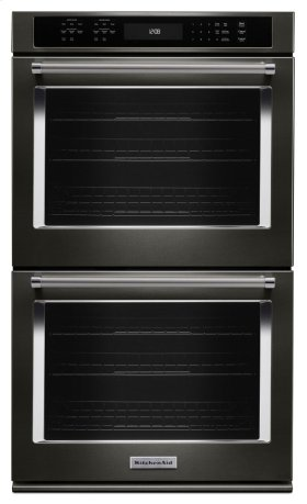 "27"" Double Wall Oven with Even-Heat True Convection - Black Stainless"