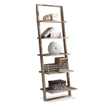 Lean Living Leaning Bookcase Smoky Driftwood finish