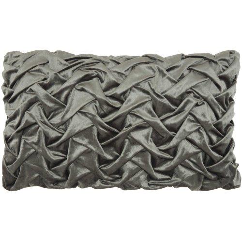 "Life Styles L0064 Dark Grey 14"" X 24"" Throw Pillows"