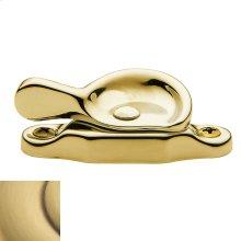 Satin Brass and Brown Sash Lock