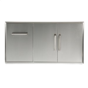 Combination Storage: Drawer & Double Access Doors -