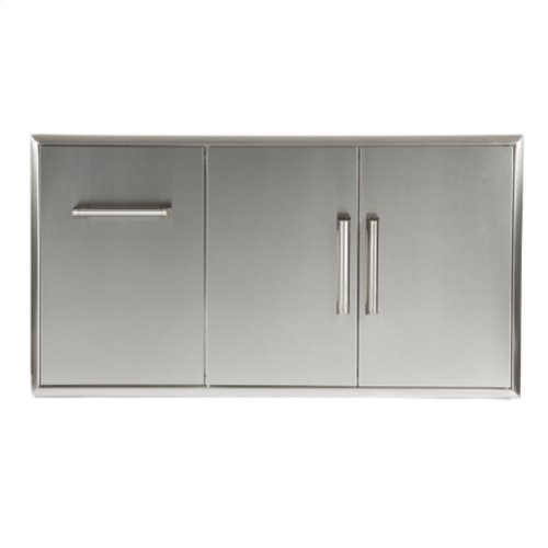 Combination Storage: Drawer & Double Access Doors