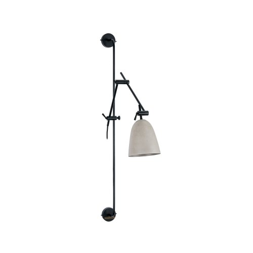 Cement Grey Metal Industrial Adjustable Sconce