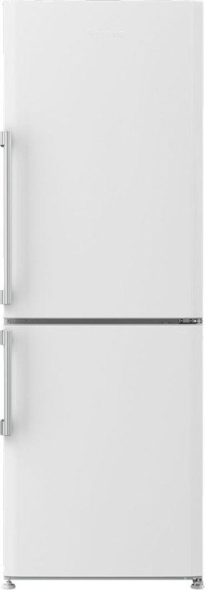 "24"" 12 cuft bottom freezer fridge with full frost free, white"