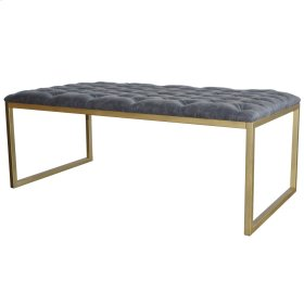 Avril KD Bonded Leather Coffee Table Gold Frame, Vintage Midnight