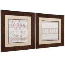 Pair of Framed Prints Under Glass