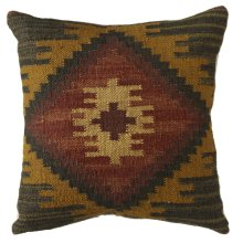 Red & Mustard Kilim Pillow.