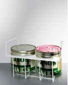 Basket Holder for Two Conventional Round Ice Cream Tubs (9.5 Inch) Available for Any Flat Glass Slide Top Freezer. Product Image