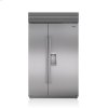 "Subzero 48"" Classic Side-By-Side Refrigerator/freezer With Dispenser"