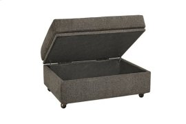 Storage Ottoman - Hickory Chenille Finish