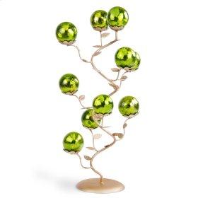 Golden Tree w/ 10 Lime green Balls