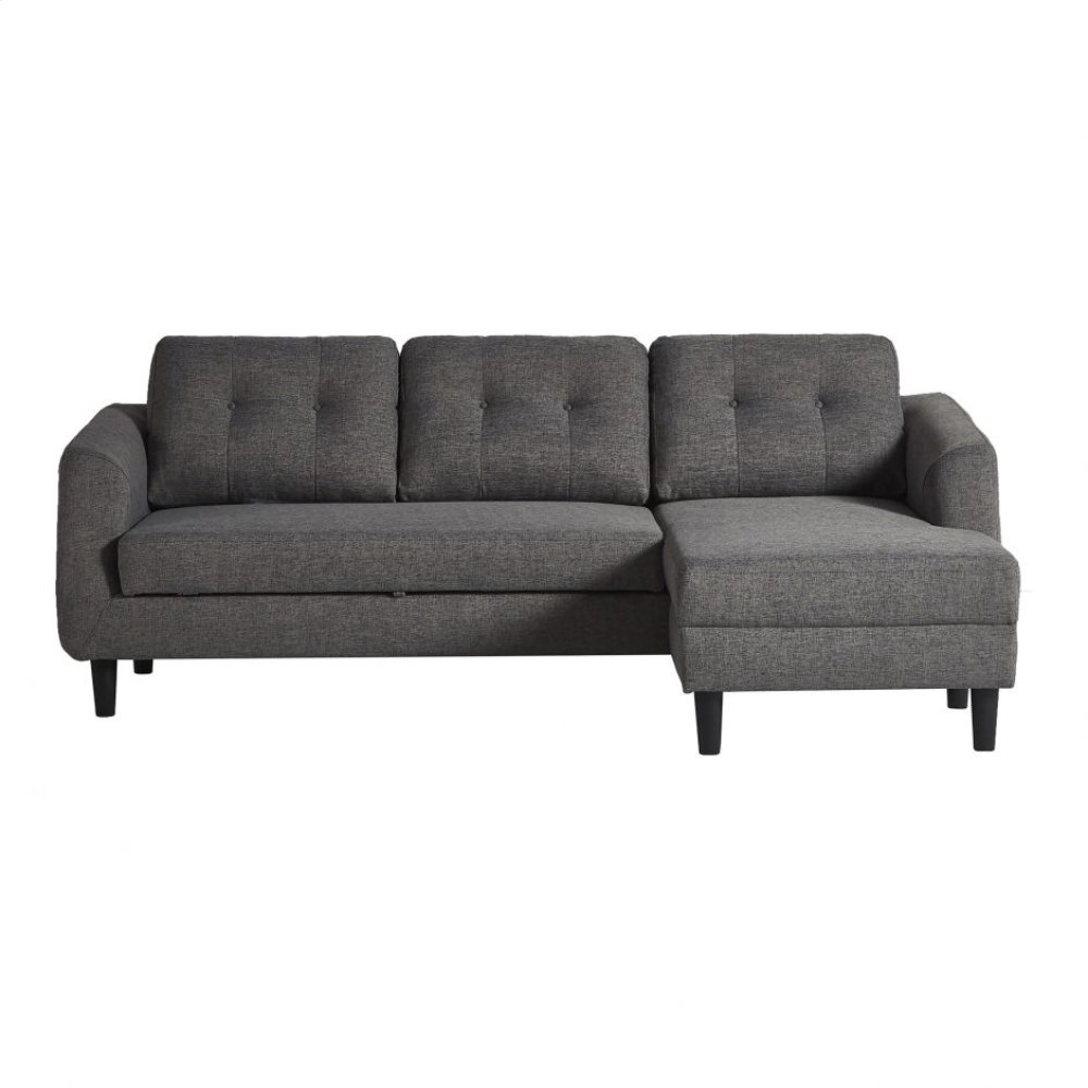 Belagio Sofabed With Chaise Charcoal Right