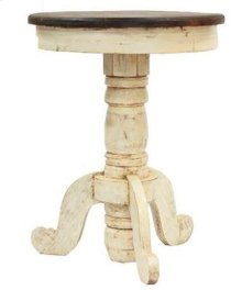 White/Walnut Recepcion End Table