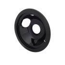 Smart Choice 6'' Black Porcelain Drip Bowl Product Image