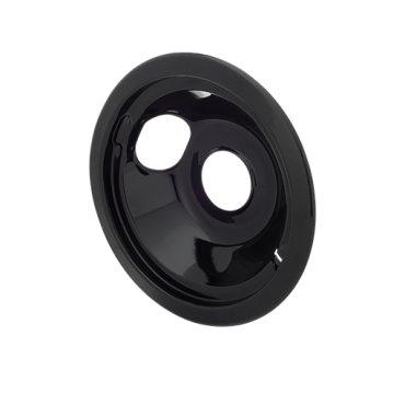 Smart Choice 6'' Black Porcelain Drip Bowl