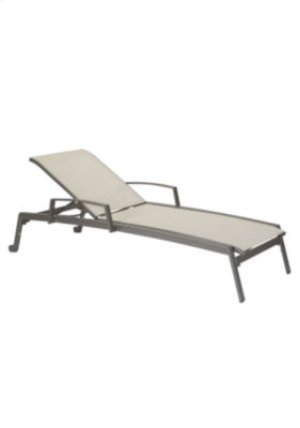 Elance Relaxed Chaise Lounge with Arms & Wheels