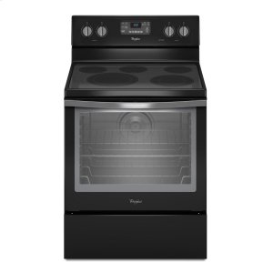 6.4 Cu. Ft. Freestanding Electric Range with AquaLift(R) Self-Cleaning Technology - BLACK ICE