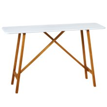 White Enamel Console Table