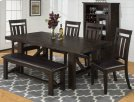 Kona Grove Dining Table With Four Slat Back Dining Chairs and One Bench Product Image