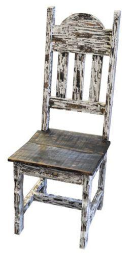 White Scrape Wood Plain Chair