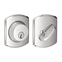 Single Cylinder Deadbolt with Greenwich trim - Bright Chrome