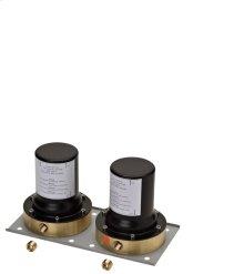 Basic set for 2-handle bath mixer floor-standing