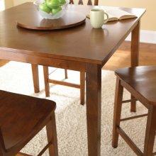 """Richmond Counter Table 5 pc Set Espresso T-42""""x42""""x36"""", C-24"""""""