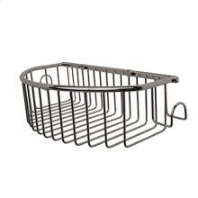 Essentials Curved Basket With Hooks