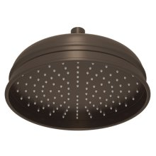 "Tuscan Brass 8"" Bordano Rain Anti-Cal Showerhead"